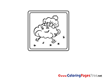 Skates Cloud Coloring Sheets download free
