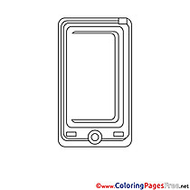 Smartphone for Children free Coloring Pages