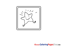 Star free printable Coloring Sheets