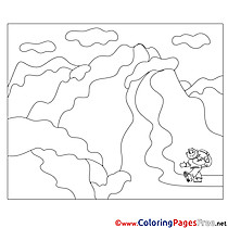 Tourist in the Mountains for free Coloring Pages download