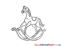 Wooden Horse for free Coloring Pages download