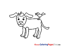 Bird Dog for free Coloring Pages download