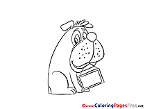 Bulldog Coloring Pages for free