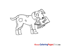 Dog Colouring Sheet download free