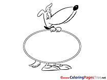 Dog free Colouring Page download