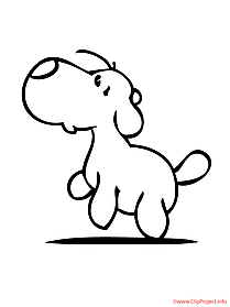 Dog printable coloring page
