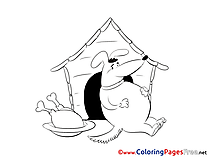 Food Dog Coloring Sheets download free