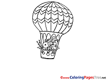 Balloon free Easter Coloring Sheets