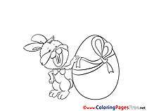 Big Egg Hare Coloring Pages Easter