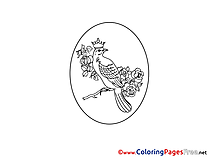 Bird Egg for Kids Easter Colouring Page