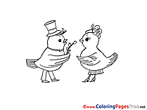 Birds free Easter Coloring Sheets