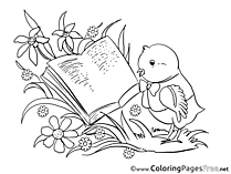 Book Bird printable Easter Coloring Sheets
