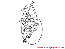 Bouquet Flowers Easter Colouring Sheet free