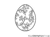 Branches Egg download Easter Coloring Pages