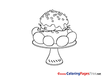 Cake Vase Easter Coloring Pages free