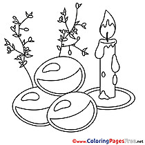 Candle Eggs Easter Colouring Sheet free