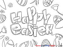 Celebration printable Coloring Pages Easter