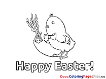 Chicken printable Coloring Pages Easter