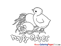 Chicken with Eggs Coloring Sheets Easter free