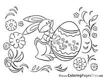 Colouring Page Egg Bunny Easter free