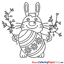 Colouring Sheet Hare download Easter