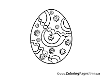Decoration Coloring Sheets Easter Egg free