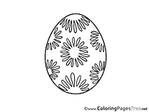 Decoration Egg free Colouring Page Easter