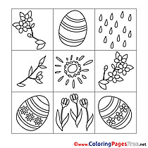 Decoration free Easter Coloring Sheets
