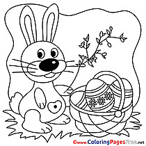 Easter Bunny Coloring Pages download