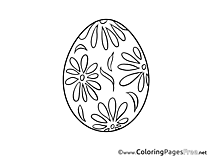 Easter Egg Kids Coloring Page