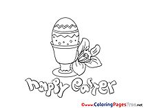 Egg Coloring Pages Easter
