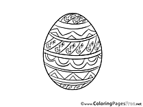 Egg Colouring Page Easter free