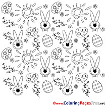 Feast Coloring Sheets Easter free