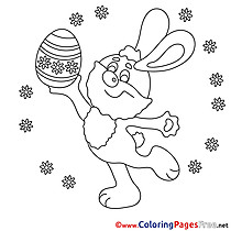 Feast Kids Easter Coloring Pages