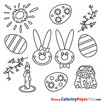 Festival Children Easter Colouring Page