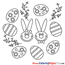 Festival Easter Colouring Sheet free