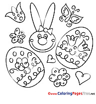Festival Hare printable Easter Coloring Sheets