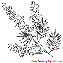 Flower Coloring Sheets Easter free