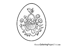 Flowers Egg printable Easter Coloring Sheets