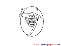 Fly on Egg Colouring Sheet download Easter
