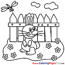 Garden Colouring Page Easter free