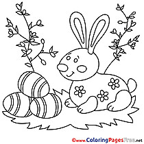Grass Eggs Colouring Sheet download Easter