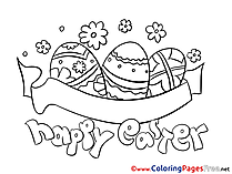 Happy Easter Colouring Page Easter free