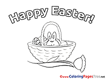 Happy Easter Kids Easter Coloring Pages