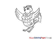 Hen Colouring Sheet download Easter