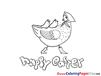 Hen download Easter Coloring Pages