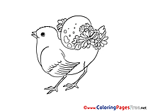Holiday Chicken free Easter Coloring Sheets