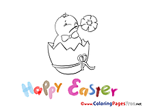 Holiday Chicken printable Coloring Pages Easter