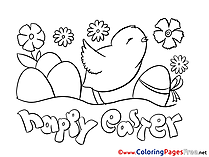 Holiday Easter Colouring Sheet free