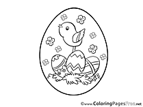 Image Bird download Easter Coloring Pages